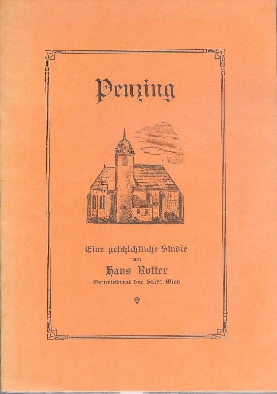 Penzing. Eine geschichtliche Studie.