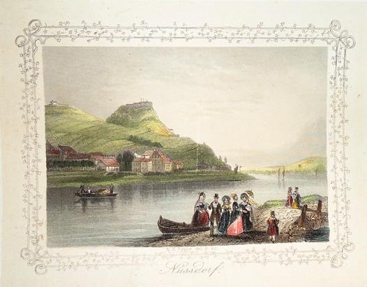 Handkolorierter Stahlstich von A. H. Payne. Aus: Wien. Ansichten der Residenz in Stahlstich. Lepizig, Engl. Kunstanstalt, ca.1848.
