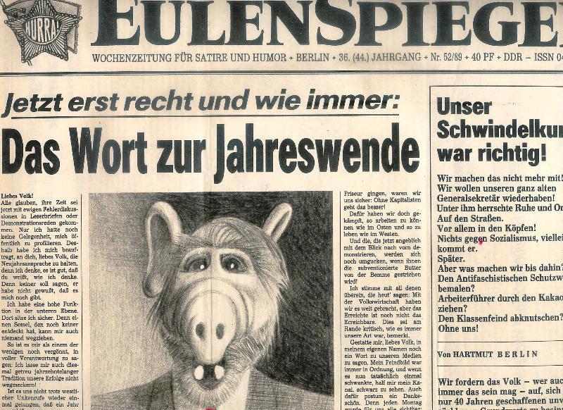 Eulenspiegel. Wochenzeitung für Satire und Humor. 17 Hefte 1989, 36.(44.) Jahrgang.