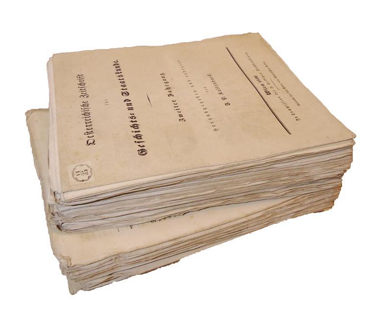 Blätter für Literatur, Kunst und Kritik. Zur Österreichischen Zeitschrift für Geschichts- und Staatskunde. 1. und 2. Jahrgang (von 3), 1835-1836 in 202 Einzelheften (ES FEHLEN DIE HEFTE Nr. 47, 93 (= 1. Jg.) sowie Nr. 69 (= 2. Jg.)