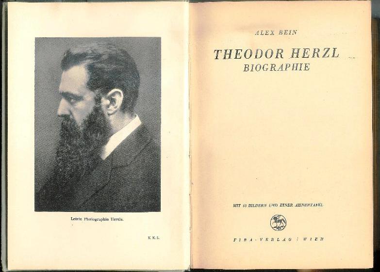 Theodor Herzl. Biographie.
