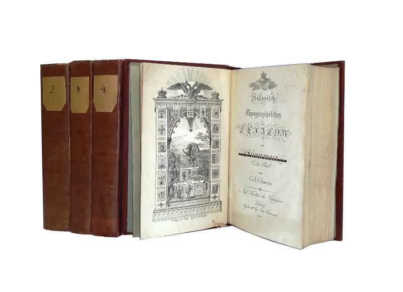 Historisch Topographisches Lexikon von Steyermark. 4 Bände. Komplett.