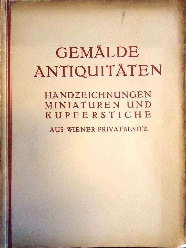 287. Kunstauktion. Versteigerung aus dem Nachlass bekannter Wiener Sammler u. Privatbesitz. Versteigerung vom 8. bis zum 12. Mai 1926.