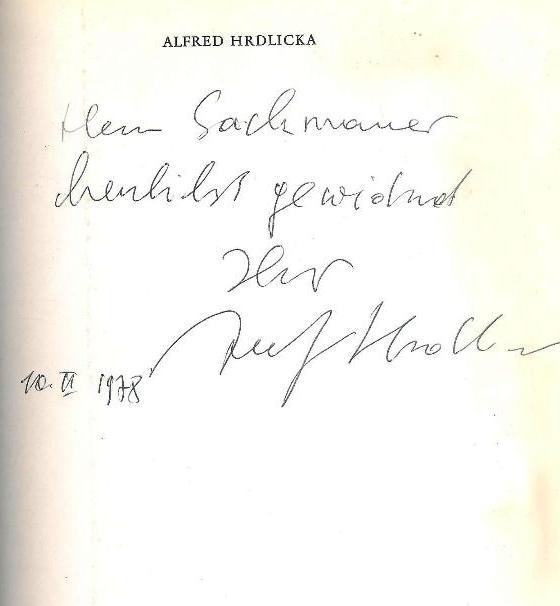WIDMUNGSEXEMPLAR - Alfred Hrdlicka. Randolectil. Mit einem Werkkatalog sämtlicher Radierungen 1947 bis 1968.
