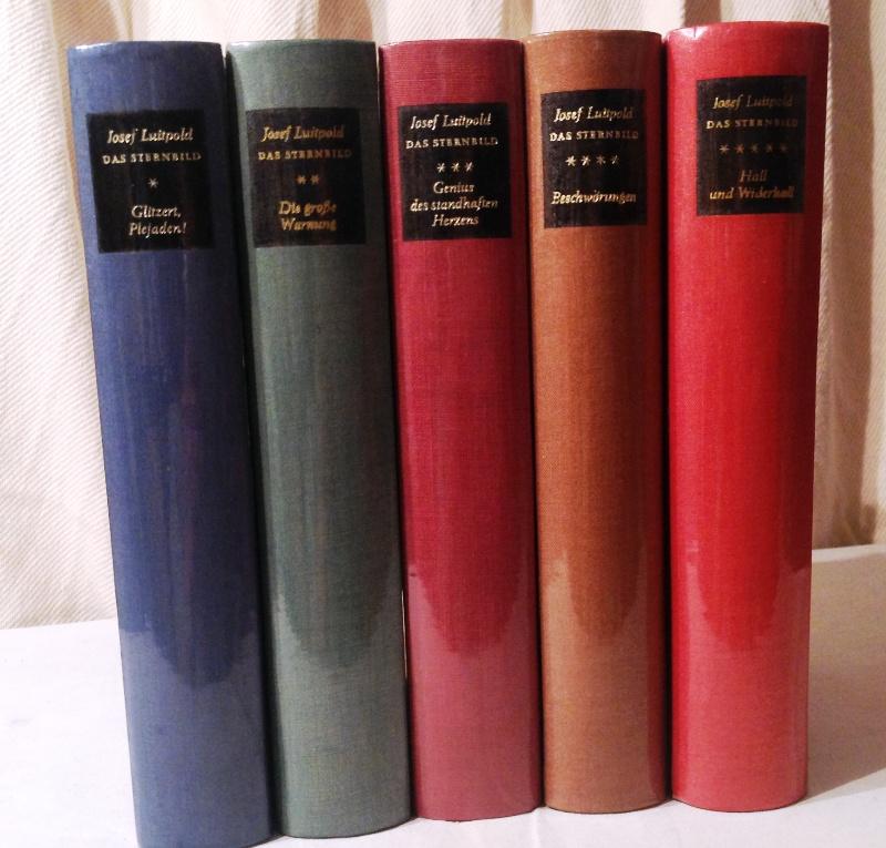5 SIGNATUREN - Gesammelte Werke in fünf Bänden (= Komplett). Das Sternbild. Gedicht eines Lebens.