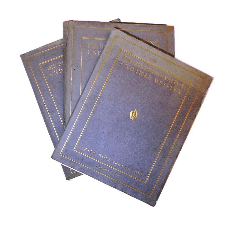 Die Bildnisminiatur und ihre Meister. Mit 150 Miniaturentafeln in 3 Bänden (Die Sammlung Prof. Emerich Ullmann / Französische, Englische und Deutsche Miniaturen des 18. und 19. Jahrhunderts (97 Tafeln).