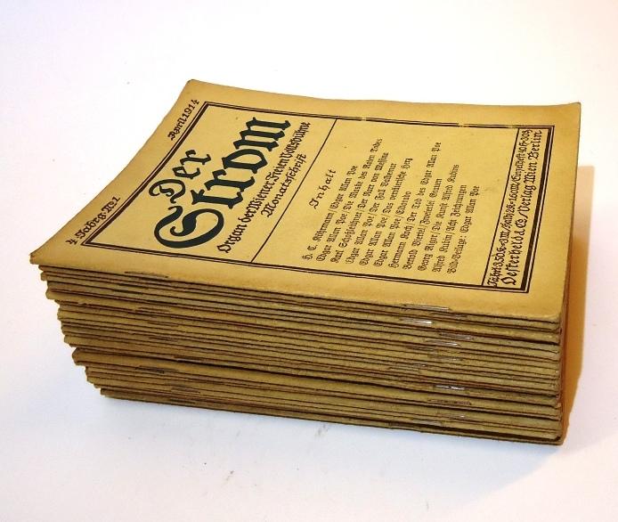 Der Strom. 26 Orig. Hefte der Jahrgänge 1-4.