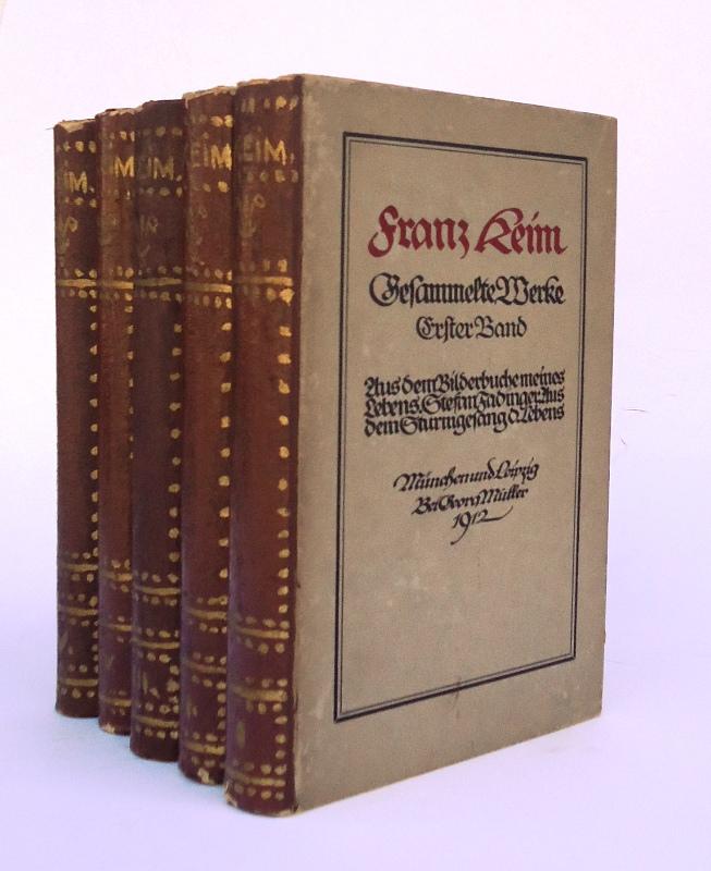Gesammelte Werke. Komplett in 5 Bänden.
