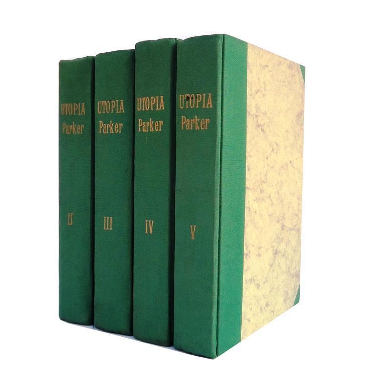 UTOPIA. Jim Parkers Abenteuer im Weltraum. 44 Orig.-Hefte (gebunden in 4 Bänden).
