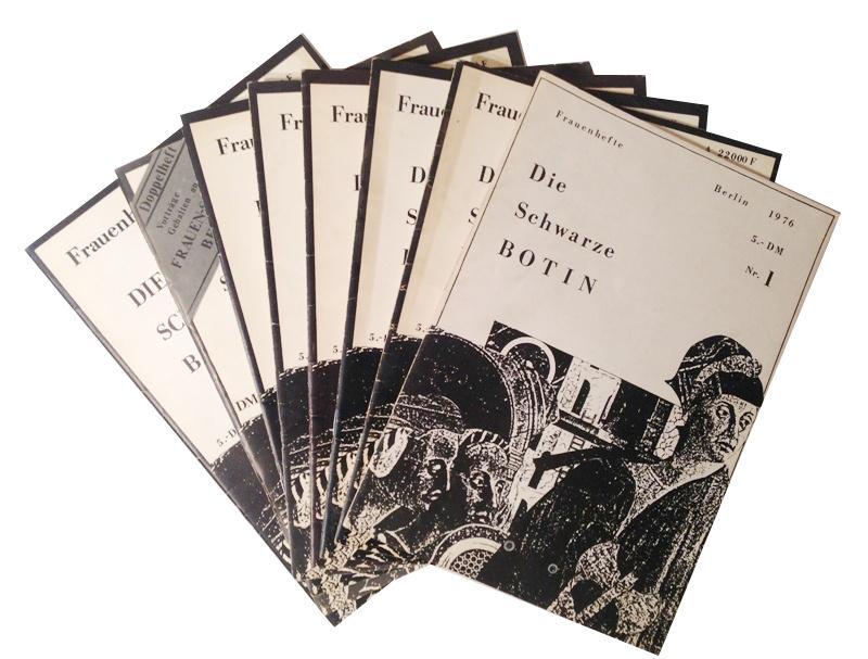 Die schwarze Botin. Frauenhefte. 8 (von 33) Nummern zwischen 1976-1980.