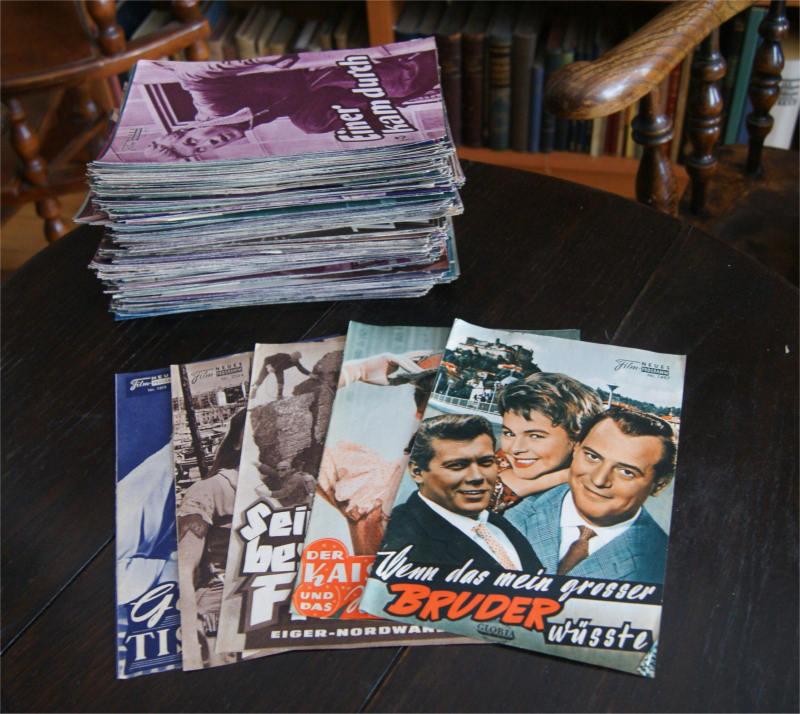 Neues Filmprogramm [NFP]. Die Kinozeitschrift für das Publikum. 684 Originalhefte von 1956-1963.