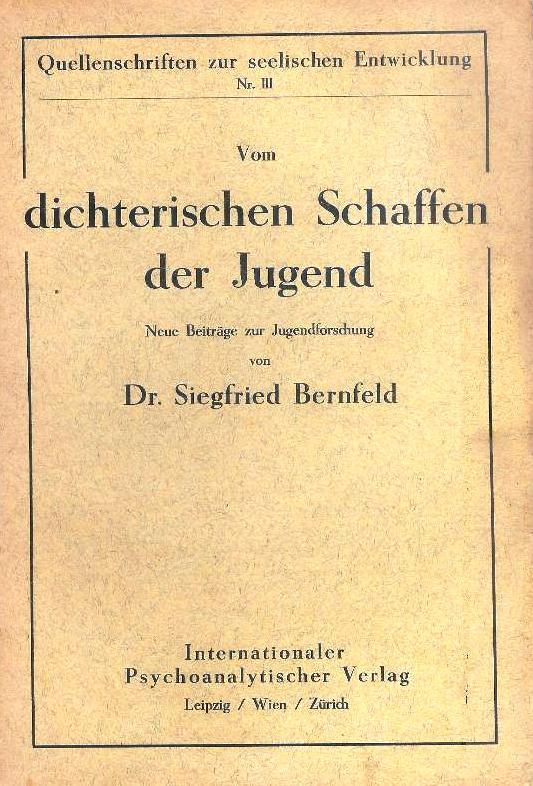 Vom dichterischen Schaffen der Jugend. Neue Beiträge zur Jugendforschung.