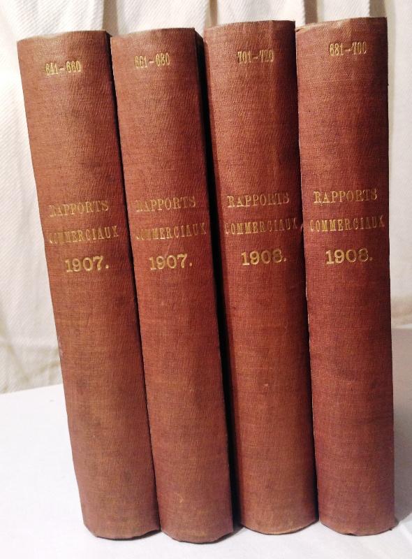 Rapports Commerciaux des Agents Diplomatiques et Consulaires de France. Année 1907-1908.  4 vol. (No. 641-720).