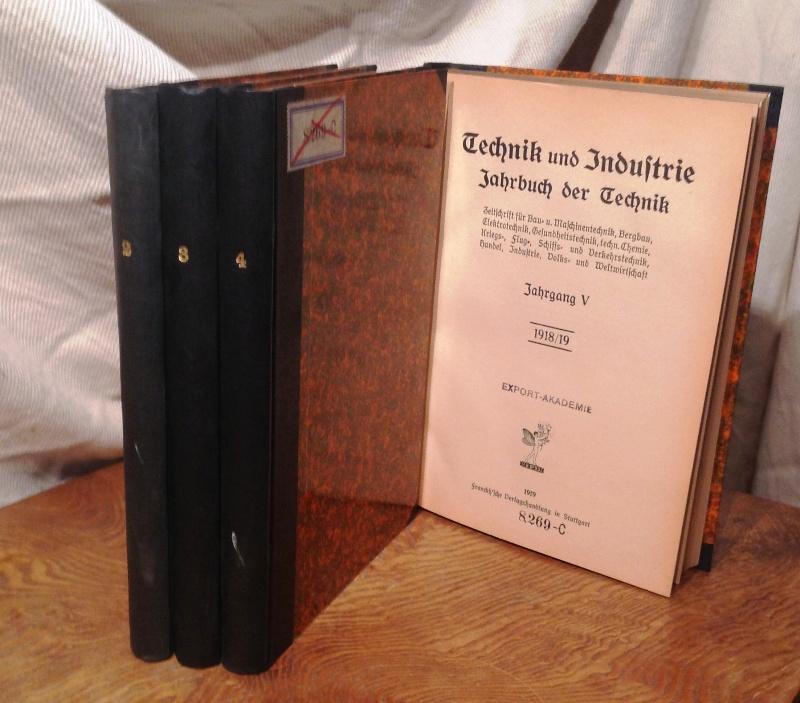 Jahrbuch der Technik. 4 Bände. (= Jahrgang 2-5).