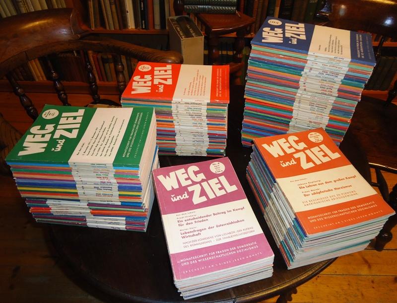 Sammlung von 150 Heften - WEG und ZIEL. Monatsschrift für Fragen der Demokratie und des wissenschaftlichen Sozialismus.