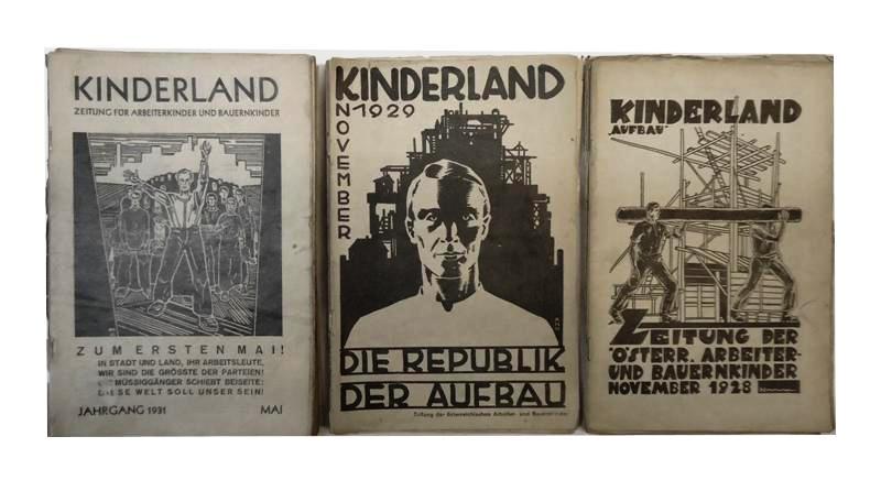 Kinderland. Zeitschrift der österreichischen Arbeiter- und Bauernkinder. 72 Originalhefte der Jahrgänge 1926-1934.