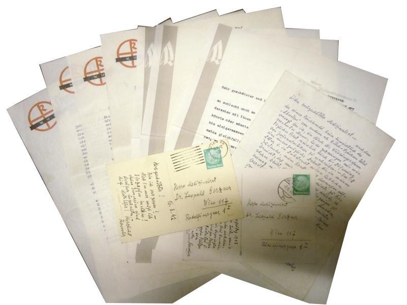 Konvolut aus 9 Briefen und 2 Postkarten.