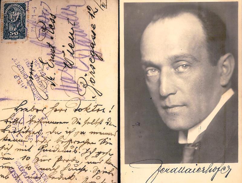 2 Fotopostkarten mit eigenhändigen Mitteilungen von Ferdinand Maierhofer.