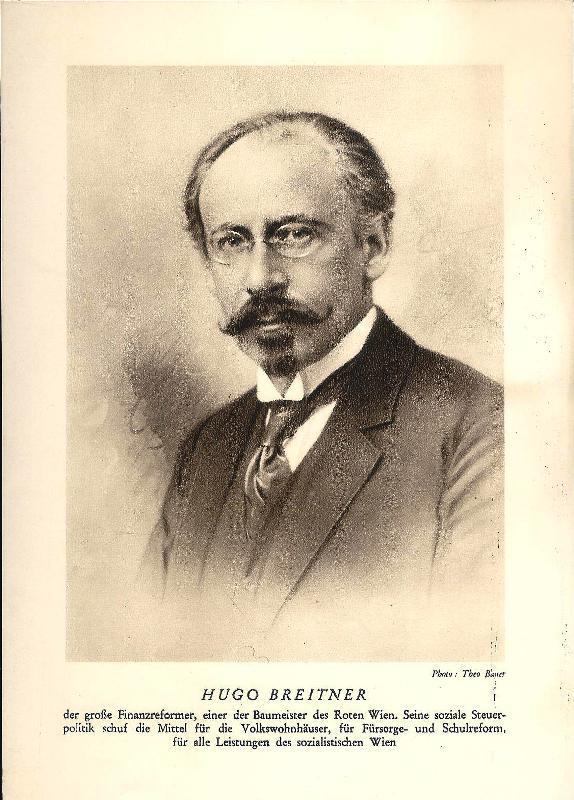 Gedruckte Portrait-Fotografie von Hugo Breitner.