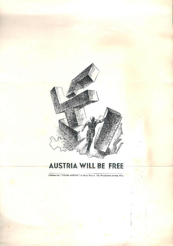 AUSTRIA WILL BE FREE. Plakat zur Ausstellung