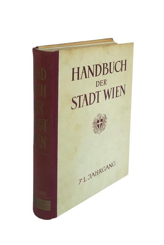 Handbuch der Stadt Wien. 71. amtlich redigierter Jahrgang 1956.