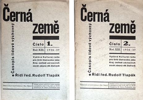 CERNE ZEME. Jahrgang 1936-37. Hefte 2, 4, 5, 6, 7/8, 9/10.