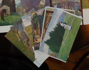 27 Künstler-Postkarten von Hans Massmann.