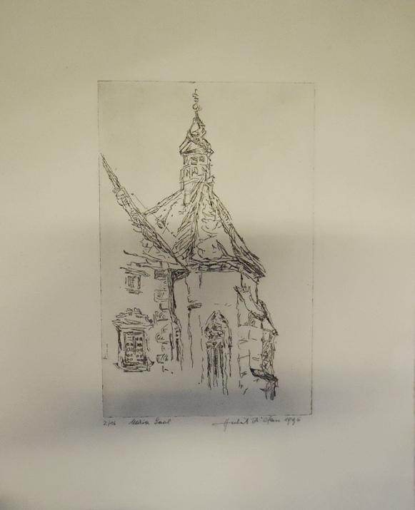 1 Originalradierung, Maria Saal (Kirche). Numeriert und signiert.
