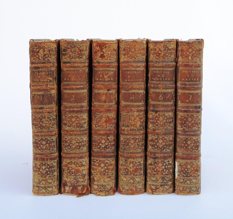 Oeuvres de Jean Racine, avec des commentaires , par M. Luneau de Boisjemain. 6 Vol. (cplt: 7 vol.): Tom 1, 2, 3, 4,6,7.