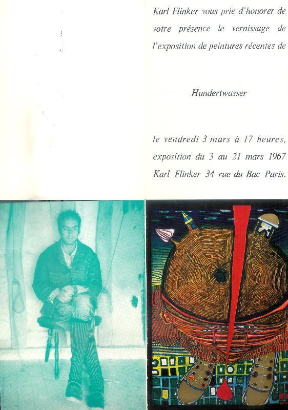 Ausstellungsfolder 1967 Paris.