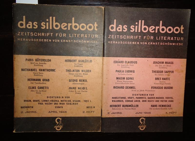 das silberboot. Zeitschrift für Literatur. 2. Jg. April und Juni 1946. Heft 2 und 4.