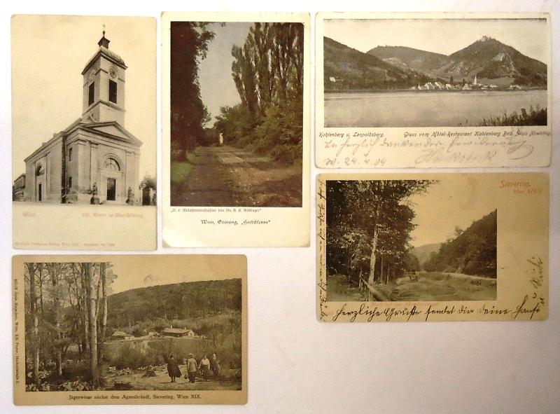 5 Ansichtskarten von Wien Döbling.
