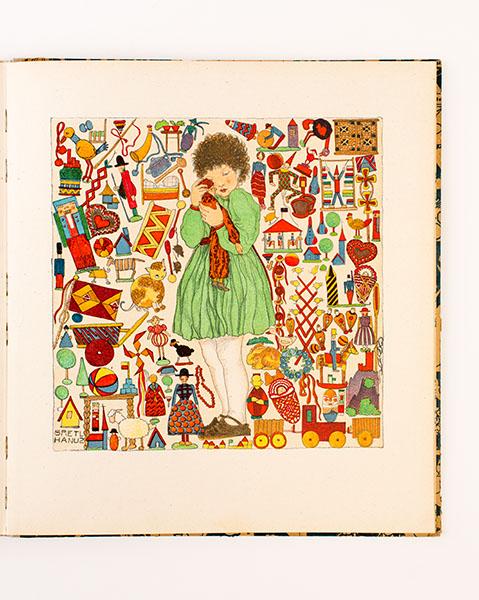 Weihnacht. Vierzehn farbige Original Steinzeichnungen.