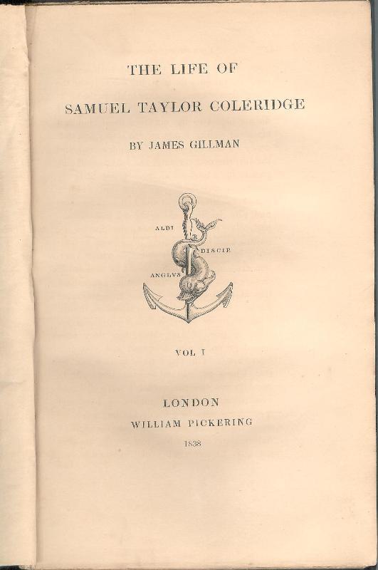The Life of Samuel Taylor Coleridge. Vol. 1 (of 2).