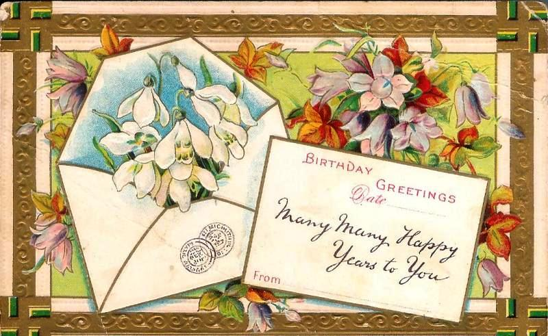 Birthday Greetings 1911.