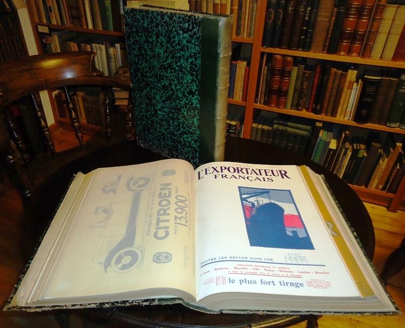 L´EXPORTATEUR FRANCAIS. Annee 1922: Juillet- aout-september. Ensemble comprenant 26 cahiers en 2 tomes.