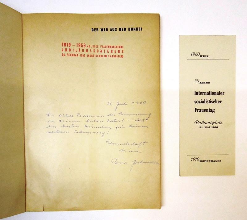 Der Weg aus dem Dunkel. Bilder aus der Geschichte der österreichischen sozialistischen Bewegung. Mit einem Vorwort von Bruno Pittermann.