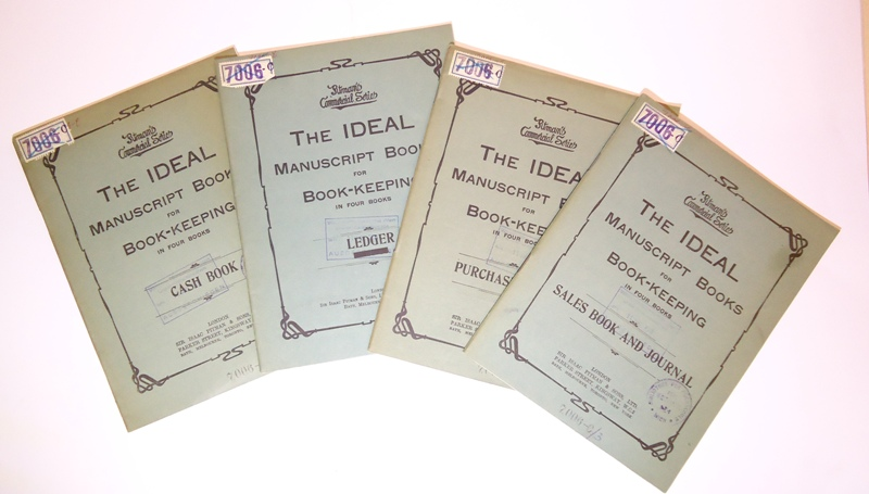 The ideal Manuscript Books for Book-Keeping in 4 books [Without text].