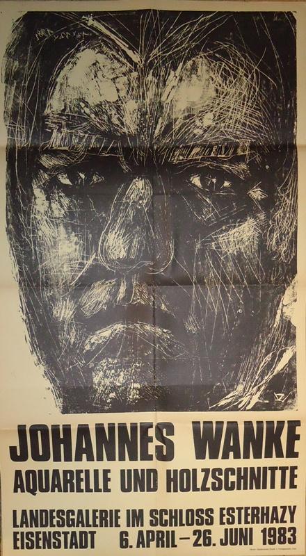 Ausstellung Johannes Wanke. Aquarelle und Holzschnitte. 6. April - 26. juni 1983.