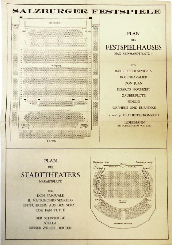 Plan des Festspielhauses, Max Reinhardtplatz 1.