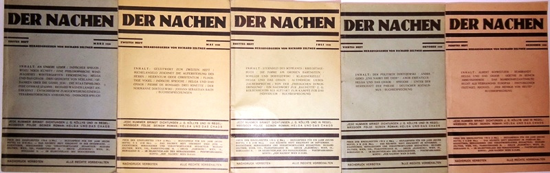 DER NACHEN. 5 Nummern des (einzigen) Jahrganges 1930 [Ohne Nummer 6].