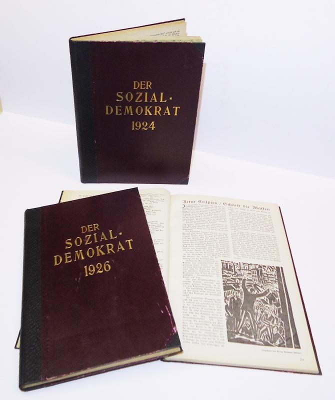 DER SOZIALDEMOKRAT. 3 komplette Jahrgänge: 1924, 1925 und 1926.