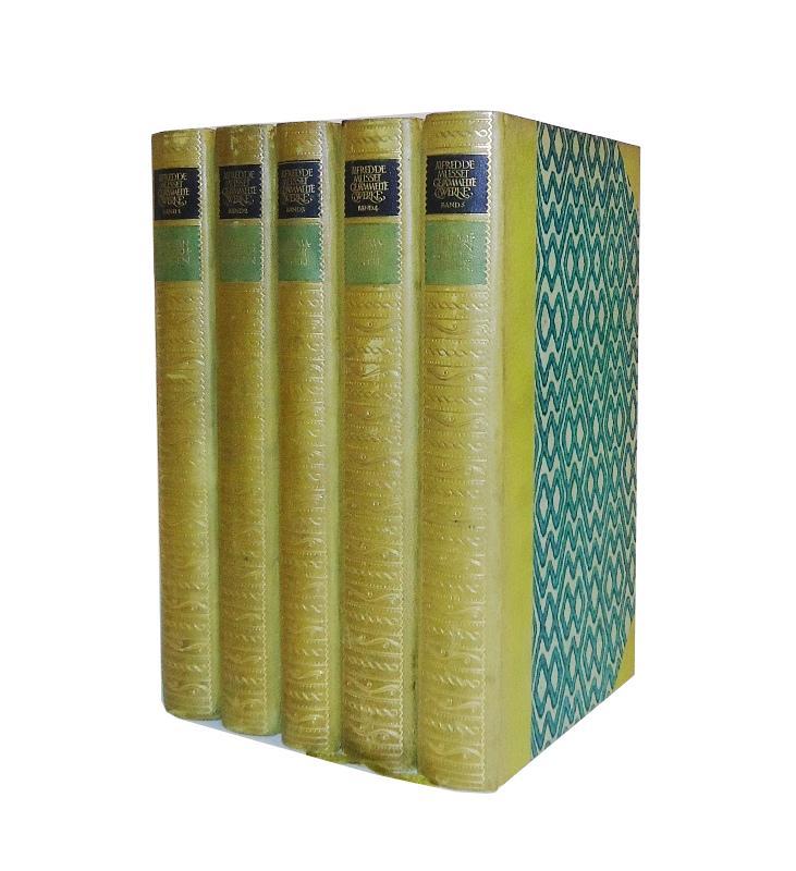 Bibliophile Halblederausgabe - Gesammelte Werle. Komplett in 5 Bänden. Hrsg. von Alfred Neumann.
