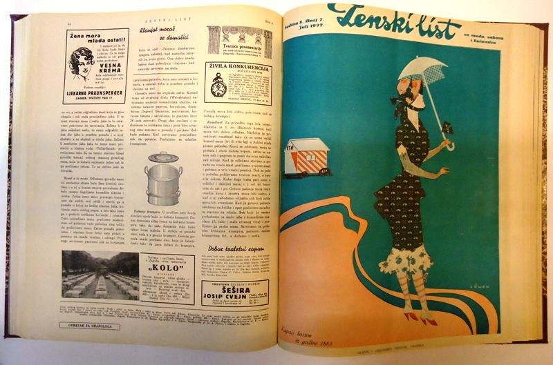 Zenski list za modu, zabavu i kucanstvo. Godina/Jg. 7 (1931), Heft 1-12. Komplett/Kompletan.