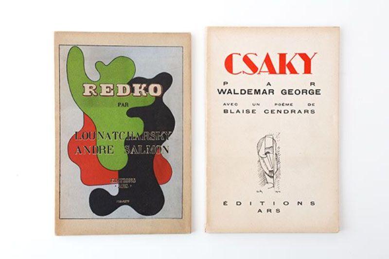 1. Salmon, Andre: Clément Redko. - 2. George, Waldemar: [Joseph] Csaky. Avec in poème de Blaise Cendrars.
