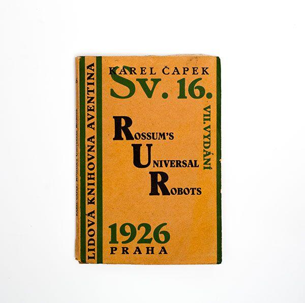 Sammlung in 9 Bänden mit Einbänden gestaltet von Josef Capek. Collection of 9 covers designed by Josef Capek.