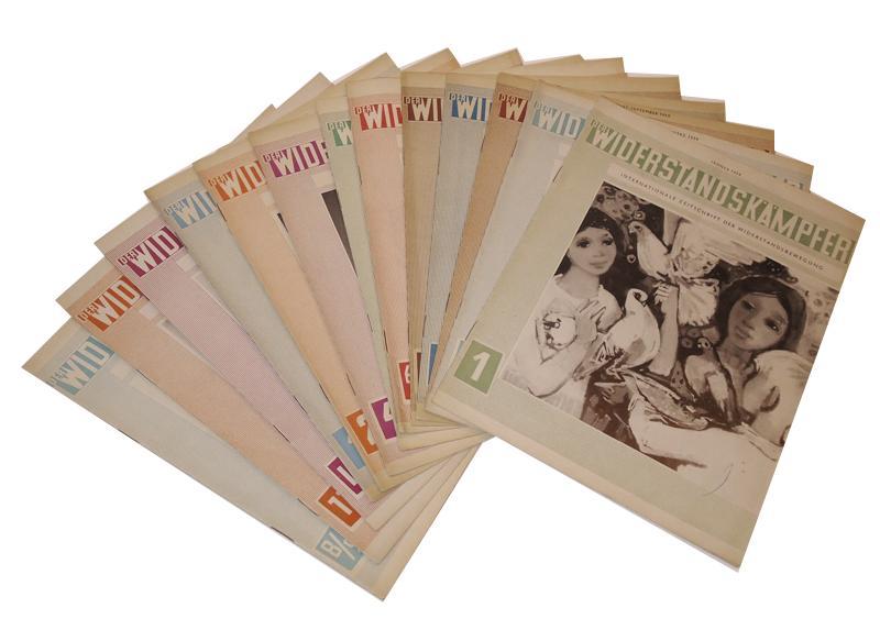 Der Widerstandskämpfer. Internationale Zeitschrift der Widerstandsbewegung. 13 Hefte der Jahre 1958-1959.