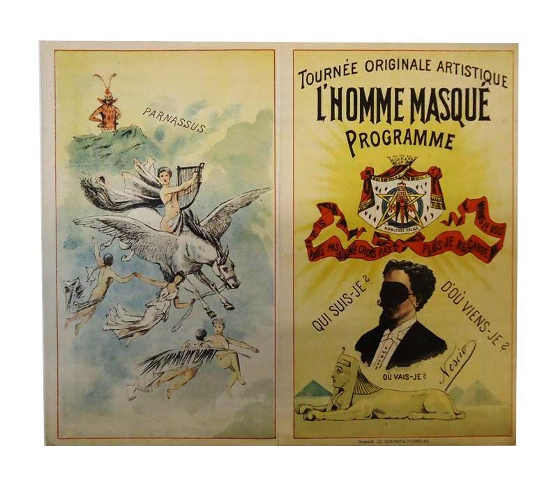 Tournee Originale Artistique L´Homme Masque Programme. Brillante Wunder-Soiree / Grande Soiree Mondaine.