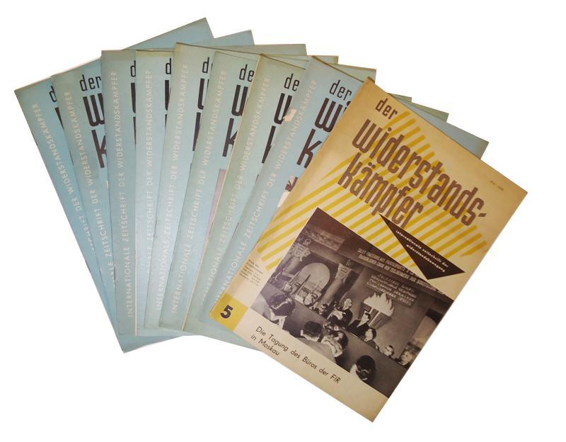 Der Widerstandskämpfer. Internationale Zeitschrift der Widerstandskämpfer. Jahrgang 1965, Hefte 1, 2, 3, 4, 6/7, 8/9 + Jahrgang 1964, Hefte 1, 11 + Jahrgang 1960, heft 5.