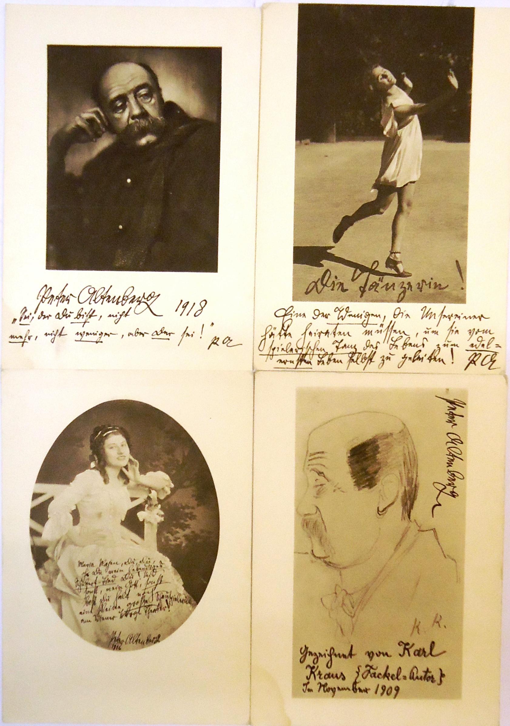 4 Postkarten als Beilagen aus dem Buch